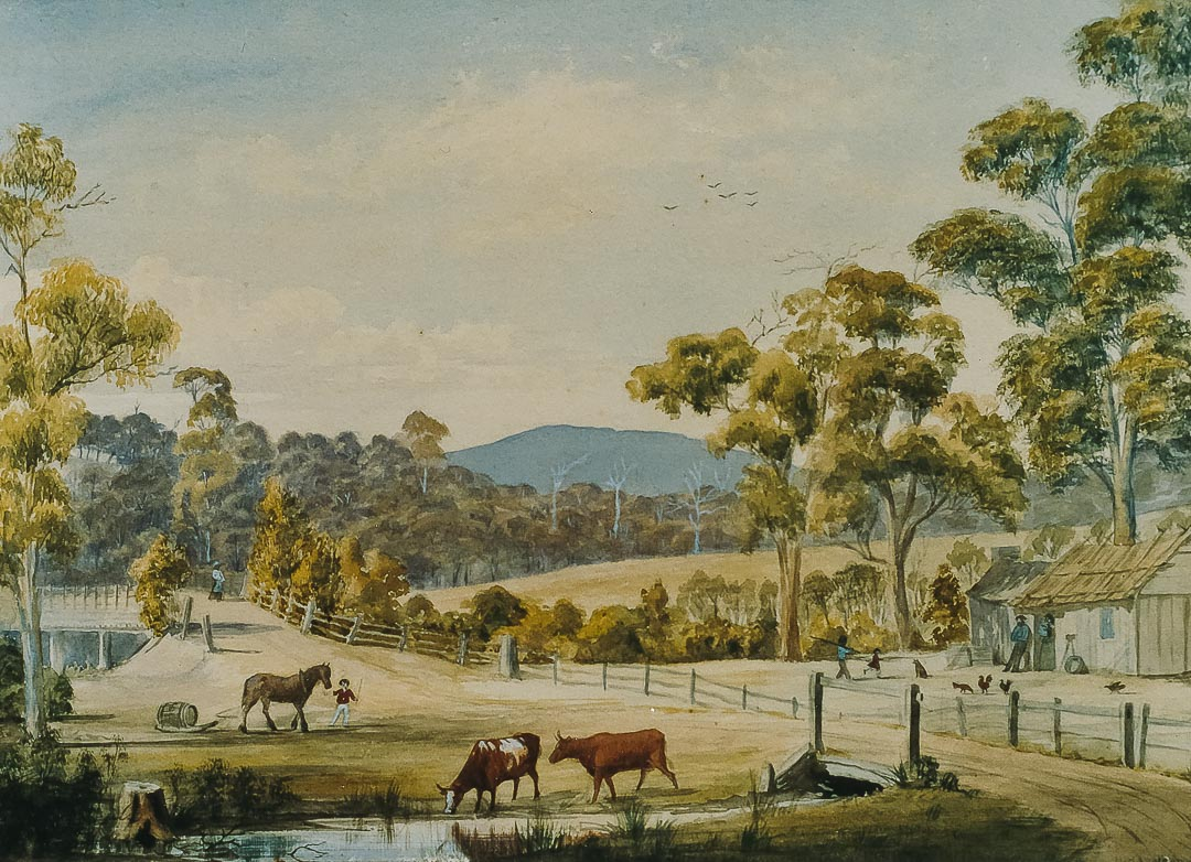 'Arthurs Creek', a painting by Harry Harward in 1878