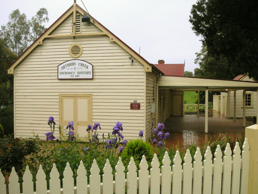 Arthurs Creek Mechanics Institute Hall and Free Library.  Photo by Bruce G. Draper, 2012