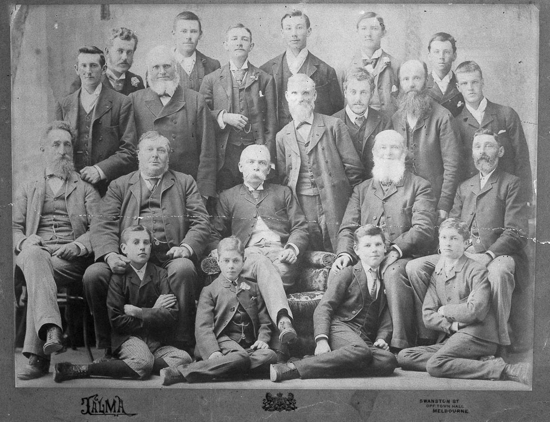 Charles Draper at a Royal Horticultural Society of Victoria meeting in Melbourne c 1885.  In July 1871, Charles was elected to the Practical Committee of the Horticultural Society of Victoria, which in 1885 was to become the Royal Horticultural Society of Victoria. He was a member of the Fruit Committee and was appointed a Trustee of the Society's Experimental Gardens at Richmond