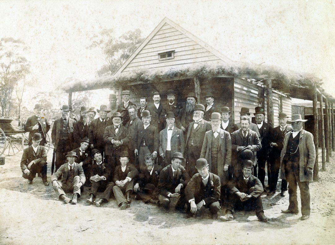 Second annual trip of the students of the Horticultural College, Burnley to the Government Scent Farm at Dunolly, 23 November 1893. Charles Draper is standing in second row, fourth from the left. Photo: Nicholas Caire. Courtesy Bruce G. Draper.  Charles Draper acted as a judge at many horticultural exhibitions throughout the colony. He was awarded a bronze medal for services as a juror at the Centennial International Exhibition, Melbourne, 1888