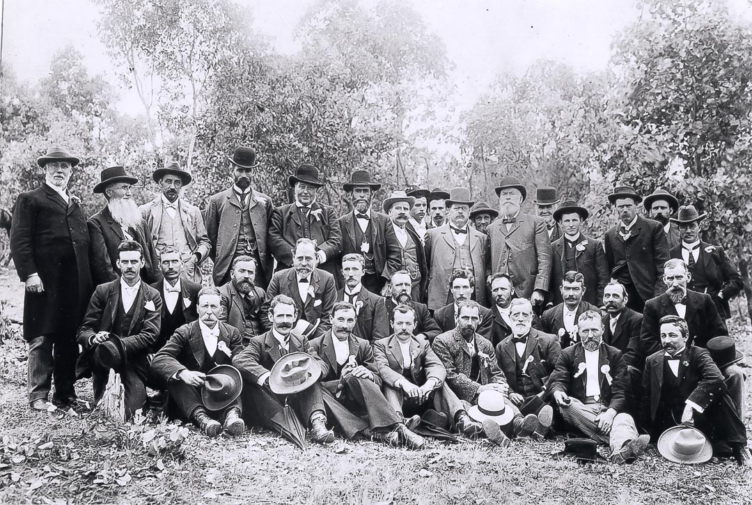 Charles Draper at an Orchardists' Demonstration where horticultural innovations, modern practices and knowledge were shared.  On May 12, 1890, the Arthur's Creek Fruit Growers' Association was formed with Charles Draper as President, P.W.J. Murphy, Secretary and J. Herbert as Treasurer.  Charles Draper was to serve as President for the next 14 years. The early efforts of the Arthur's Creek Fruit Growers' Association and the Diamond Creek Horticultural Society, formed in September 1884, provided the foundations for the advancement of the fruit growing industry in the Arthur's and Diamond Creek districts