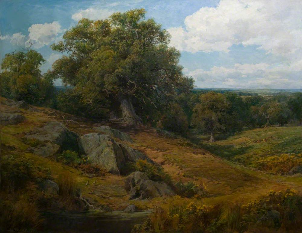 Charnwood Forest Leicestershire by Edward Davies (1841-1920).  Credit Leicestershire County Council Museums Service