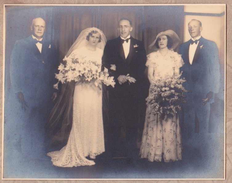 'Up the Creek: Early Days in the Arthurs Creek District' is dedicated to my parents Chester and Beatrice, pictured at their wedding in 1933, who came home to their district and spent their final years at 'Maranui' in Ridge Road, looking out towards the Kinglake Ranges