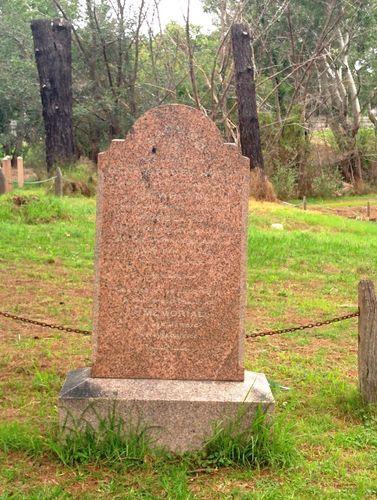 Henry Facey Hurst's monument erected over the grave.  Photo by Neville Brabet www.monumentaustralia.org.au