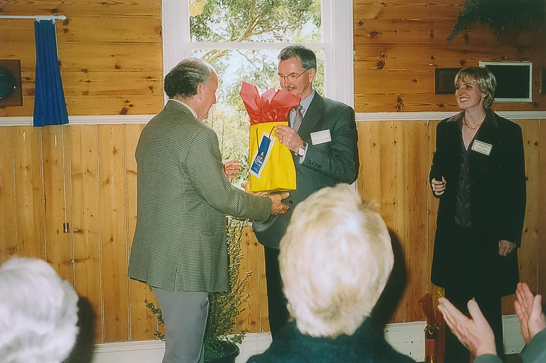 Committee members Bruce Draper, Peter Nankervis and Collette Apted at History Day and the Plaque Unveiling Ceremony on the 11th September, 2005, Arthurs Creek Mechanics Institute