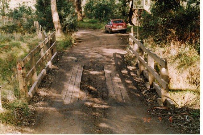 Timber Trestle Bridge, Eagles Nest Rd, Arthurs Creek, Shire of Eltham Heritage Study, 1992