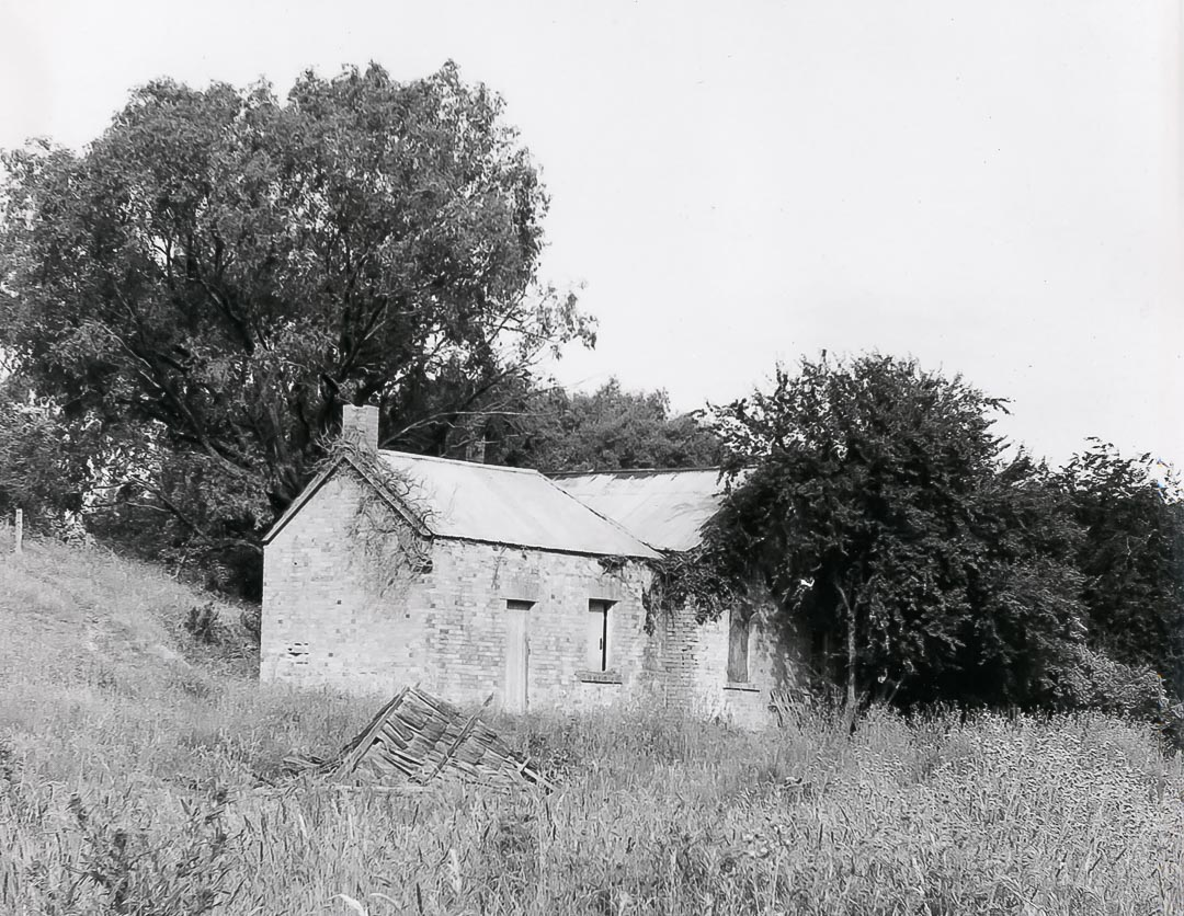 'Charnwood', Bruce G. Draper, 1968, showing the remains of the stables.  The stables contained six stalls and were built during the 1870s using hand made bricks obtained from clay in a gully behind the stables