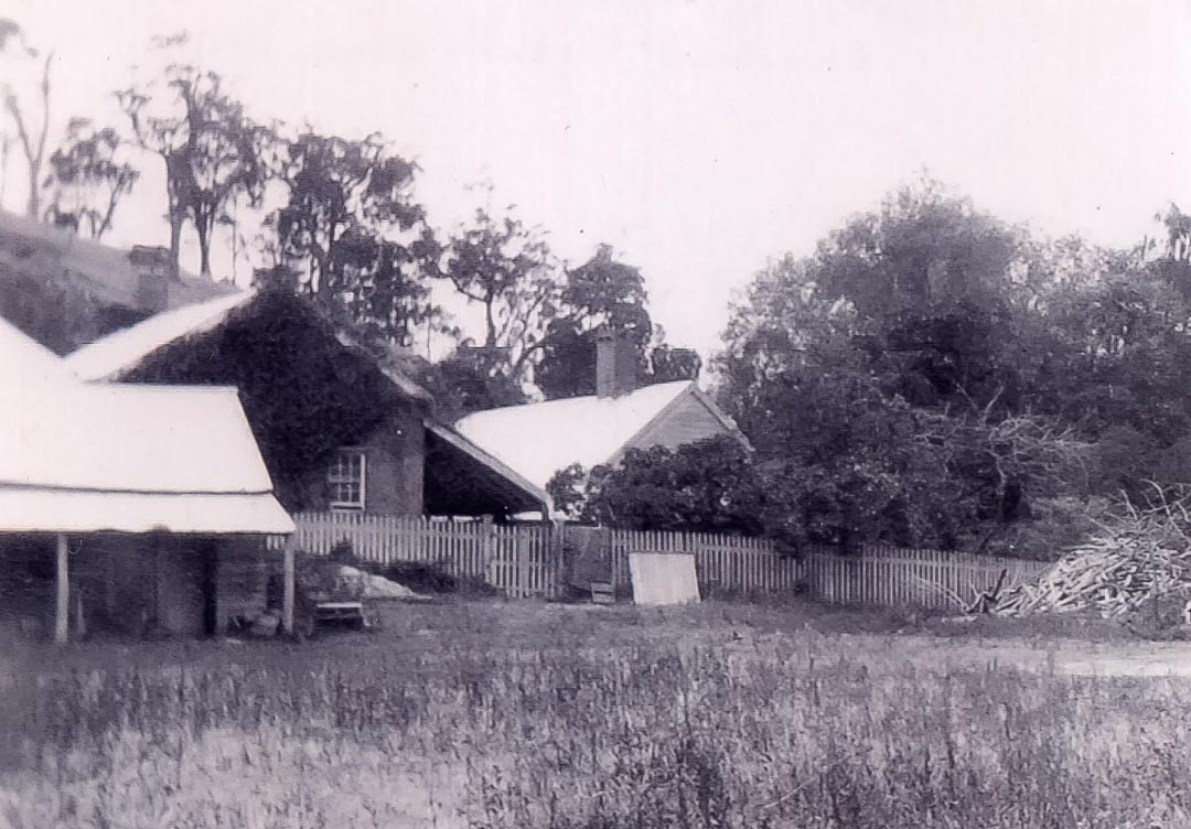 'Charnwood', 1922.  Roy McDonald (grandson of William Plenty Draper) remembered in the 1920s before starting school at Arthurs Creek and then Scotch College 'they lived in the large building – with a weatherboard cottage beside, attached by a walkway…down the side of the house there were windows which we used to peer through to see the rooms full of furniture.  We lived in this barn of a place with some stone floors, open fire place, big table…Mum used to say it was the servant's quarters but….it could have been the kitchen because they had big parties' credit Ross McDonald, 'From Laggan to Arthurs Creek'