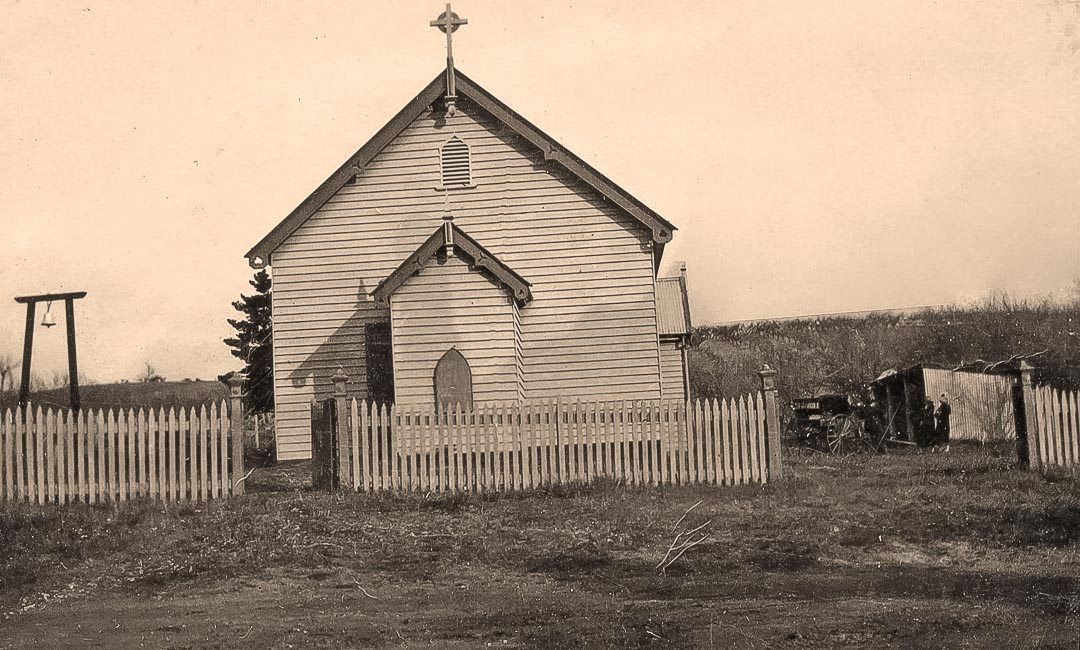 The former Nillumbik Methodist Church building, first erected near the bridge at Diamond Creek in 1871