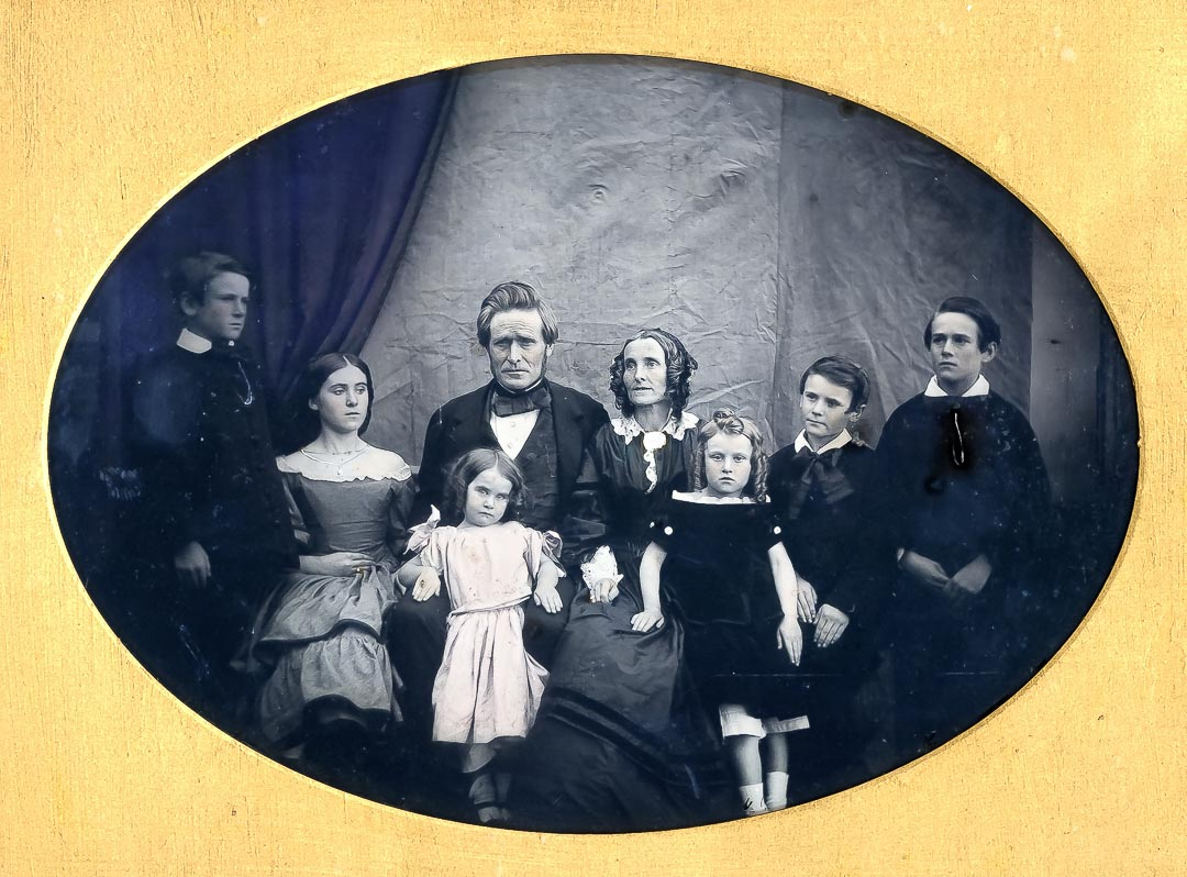 John Archibald (1810-1876) and Elizabeth Horton (1815-1899) Macfarlane of 'Ardchattan' with their family c 1860