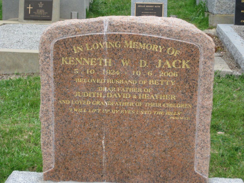 Kenneth Jack, died 2006