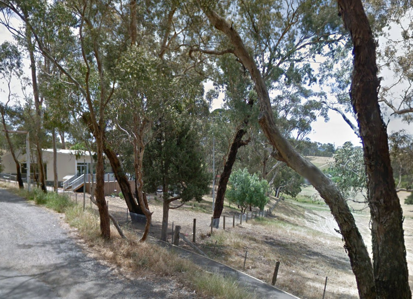 Arthurs Creek Primary School has always bordered the neighbouring paddocks, and still does, pictured here in 2020