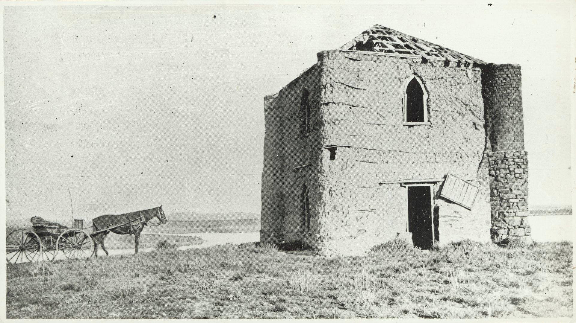 Bear's Castle is reputed to have been built in the 1840s.  It is pictured here in the late 19th century