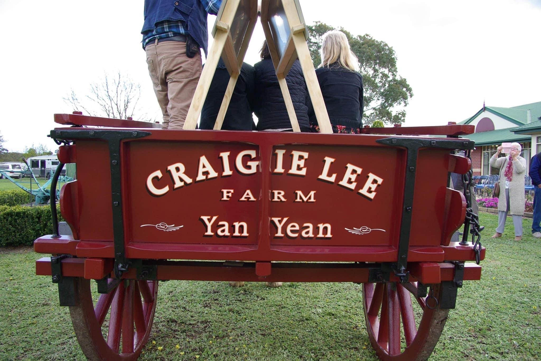 This 1880s cart spent its working life with the Hurrey family at 'Craigie Lee', and was used to carry sheaves of oaten hay and cans of milk from the dairy farm to the Yan Yean rail platform for transport to the Hurrey Brothers Dairy in North Fitzroy. Credit wikinorthia.net.au