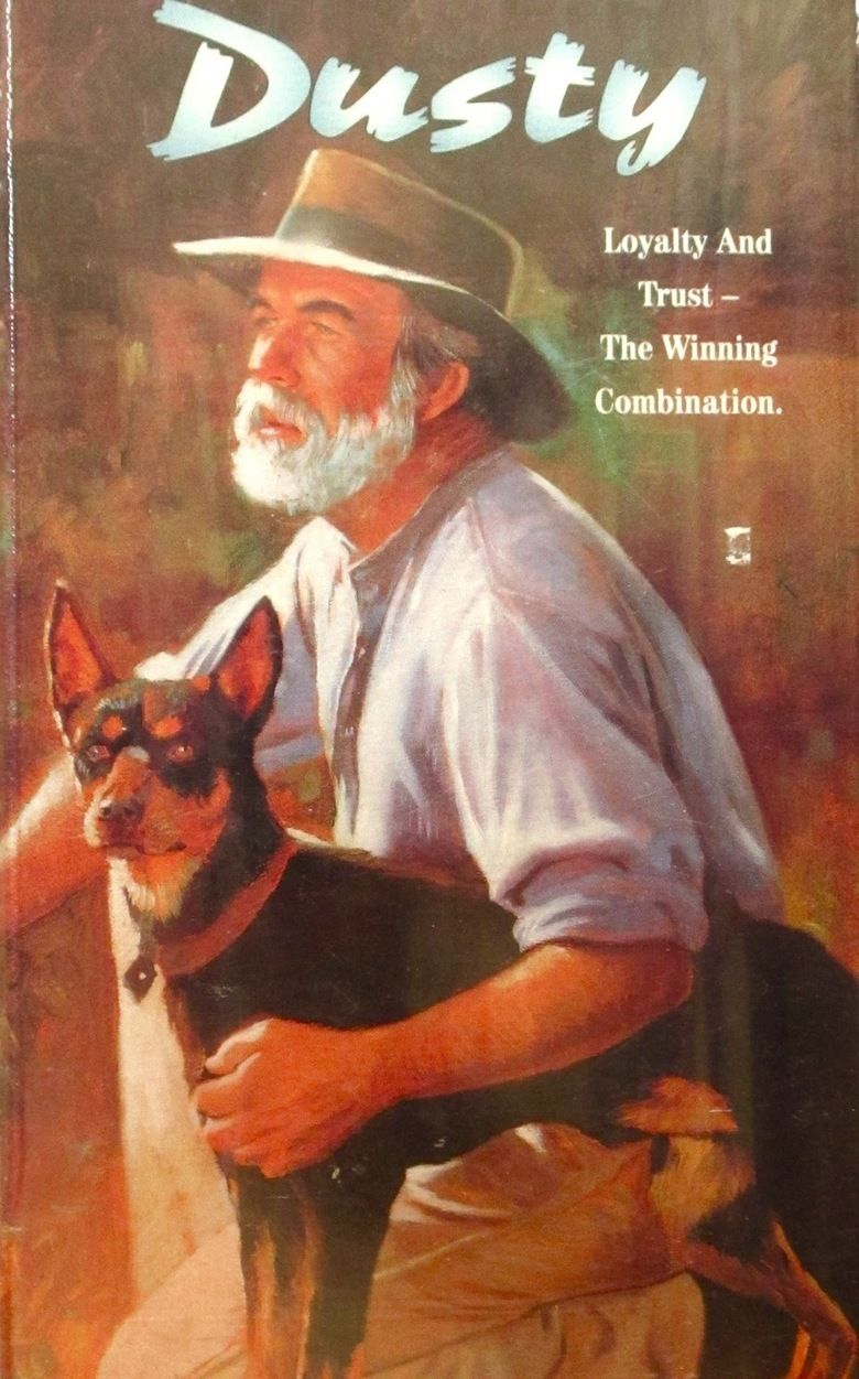 Dusty the book by Frank Dalby Davison (1893-1970) was published by Angus & Robertson in 1946.  In 1983 an Australian film of the book was made.  Dusty is about the friendship between a drover, played by Bill Kerr and his part-dingo dog, Dusty