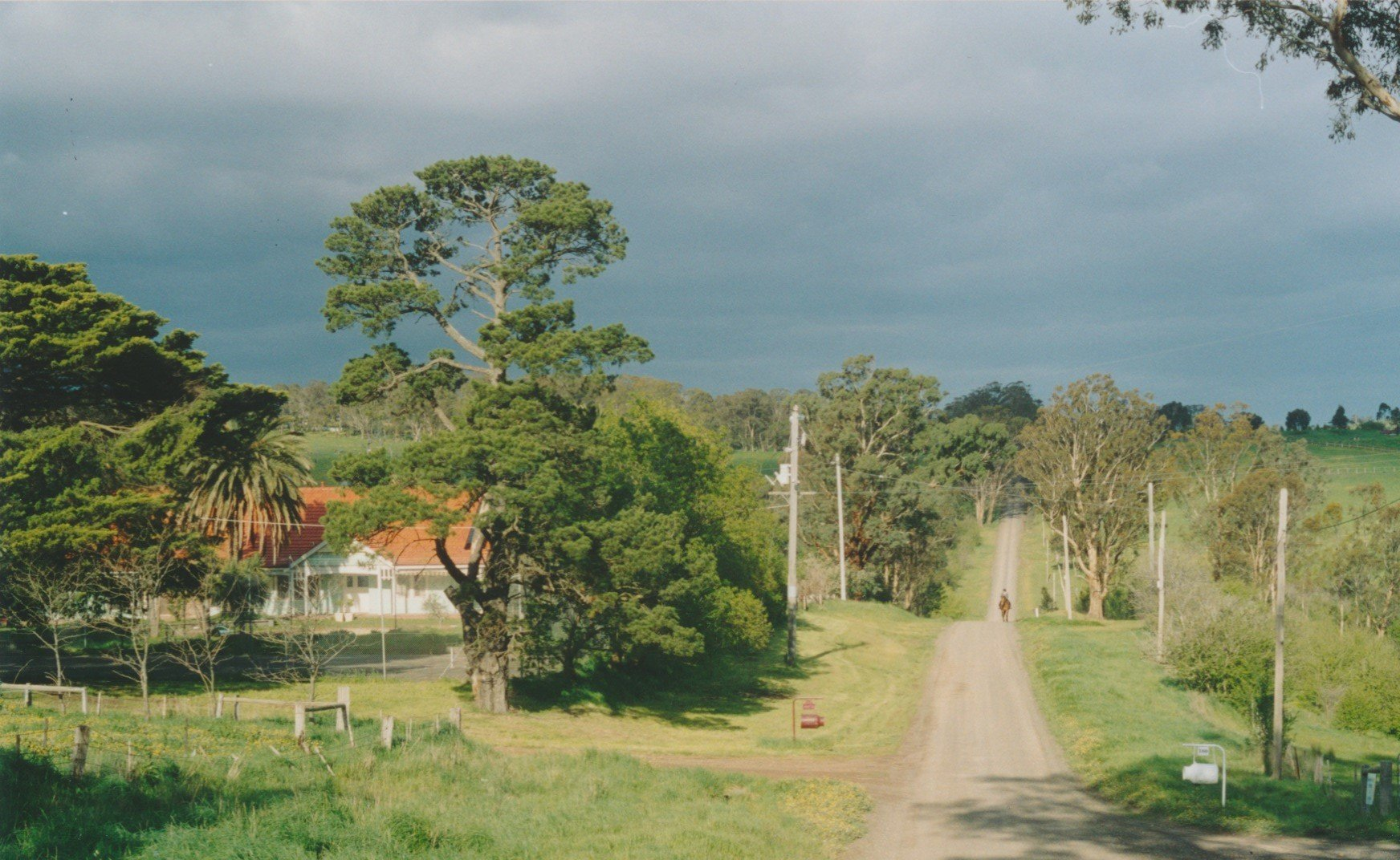 Early settlers included Pierce Brennan who, in about 1867, selected land along the Running Creek to the north of William Murphy and Charles Draper's 'Charnwood', which he called 'Fernvale', and his brother Michael Brennan who selected land to the west of the Deep Creek, which he called 'Pine Hill'.  Pictured in 2003, 'Fernvale' on Running Creek, Brennan's Road East.  The Evelyn Observer of 1917 reported that Marty Brennan accidentally deposited a passenger and some empty fruit cases on the roadway while travelling in his horse-drawn fruit wagon
