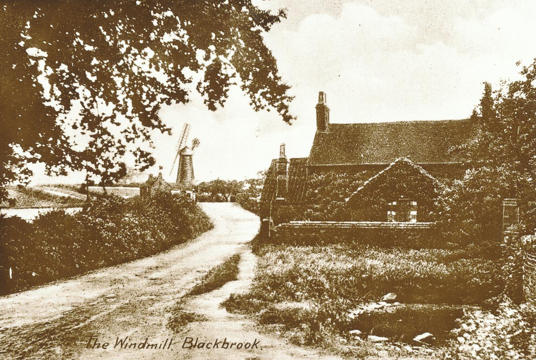 Blackbrook Windmill, Shepshed, Leicestershire. Charles Draper (1825-1909) was born at Shepshed in the Charnwood Forest area of Leicestershire. In December 1852, Charles and Catherine Draper with their two small children, Maria age 3 and Joseph Charles age 1, left Liverpool in the ship 'Kate' bound for Port Phillip. The Kate arrived in Hobson's Bay on 13 April 1853.  19th century photo in the Draper family collection