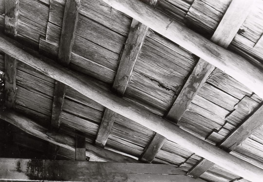An original shingled roof of local timbers at 'Charnwood'