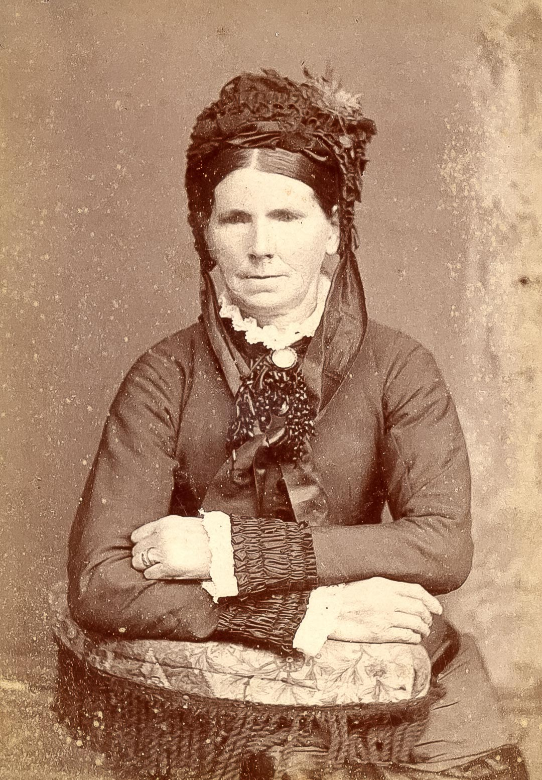 Mrs Elizabeth Ann Murphy, wife of Thomas Murphy, both from County Armagh, Northern Ireland.  Thomas and Elizabeth built their home beside the Deep Creek, then a beautiful stream teeming with black fish, having selected 80 acres adjacent to Charles Draper's allotment, and the family of five boys and two girls moved to Arthurs Creek in 1864