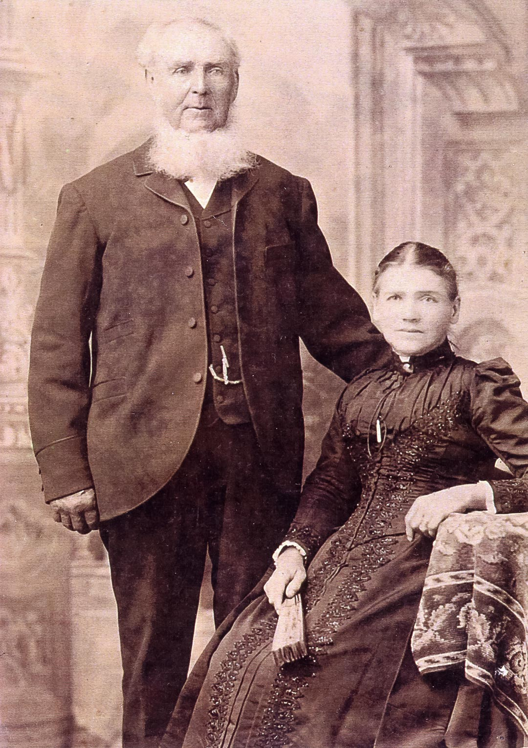 John Ryder, on the occasion of his second marriage, and Rachel Ryder (nee Smith) 1895