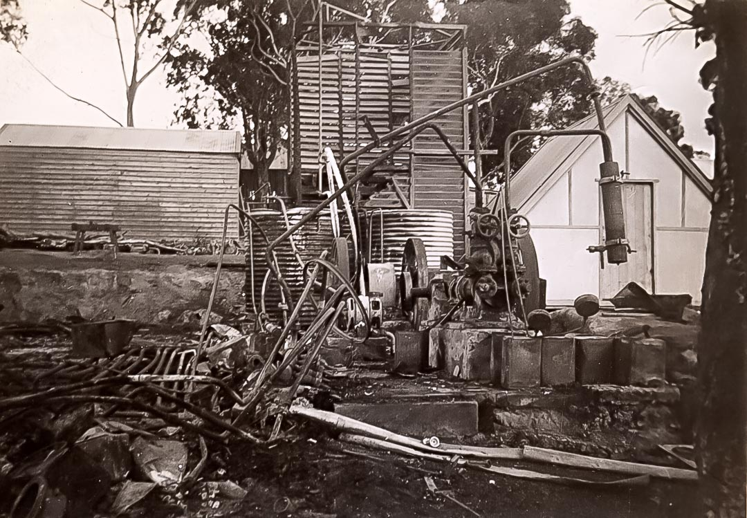 Remains of 'Glen Ard' coolstore following fire in 1943