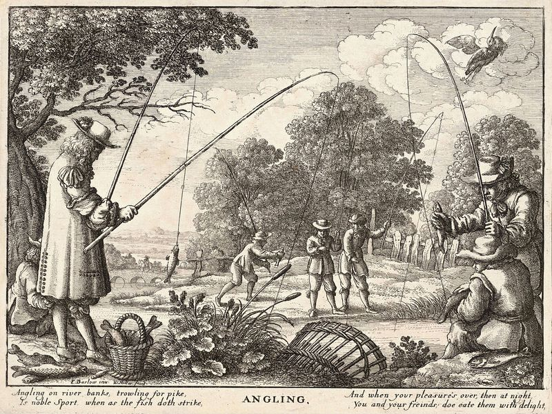 This obscure fishing book is one of the most reprinted books in English and is a pleasurable read that shows an awareness of the environment centuries ahead of its time. The Compleat Angler by Izaak Walton, about the sport of angling, angle being an old word for hook, was first published in 1653 by Richard Marriot in London