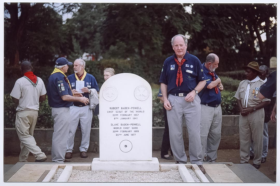 At Lord and Lady Baden-Powell's grave at St. Paul's Cemetery, Nyeri County, Kenya
