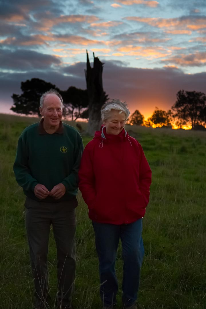 Bruce and Bronwyn Hodges (nee Reid) at Arthurs Creek