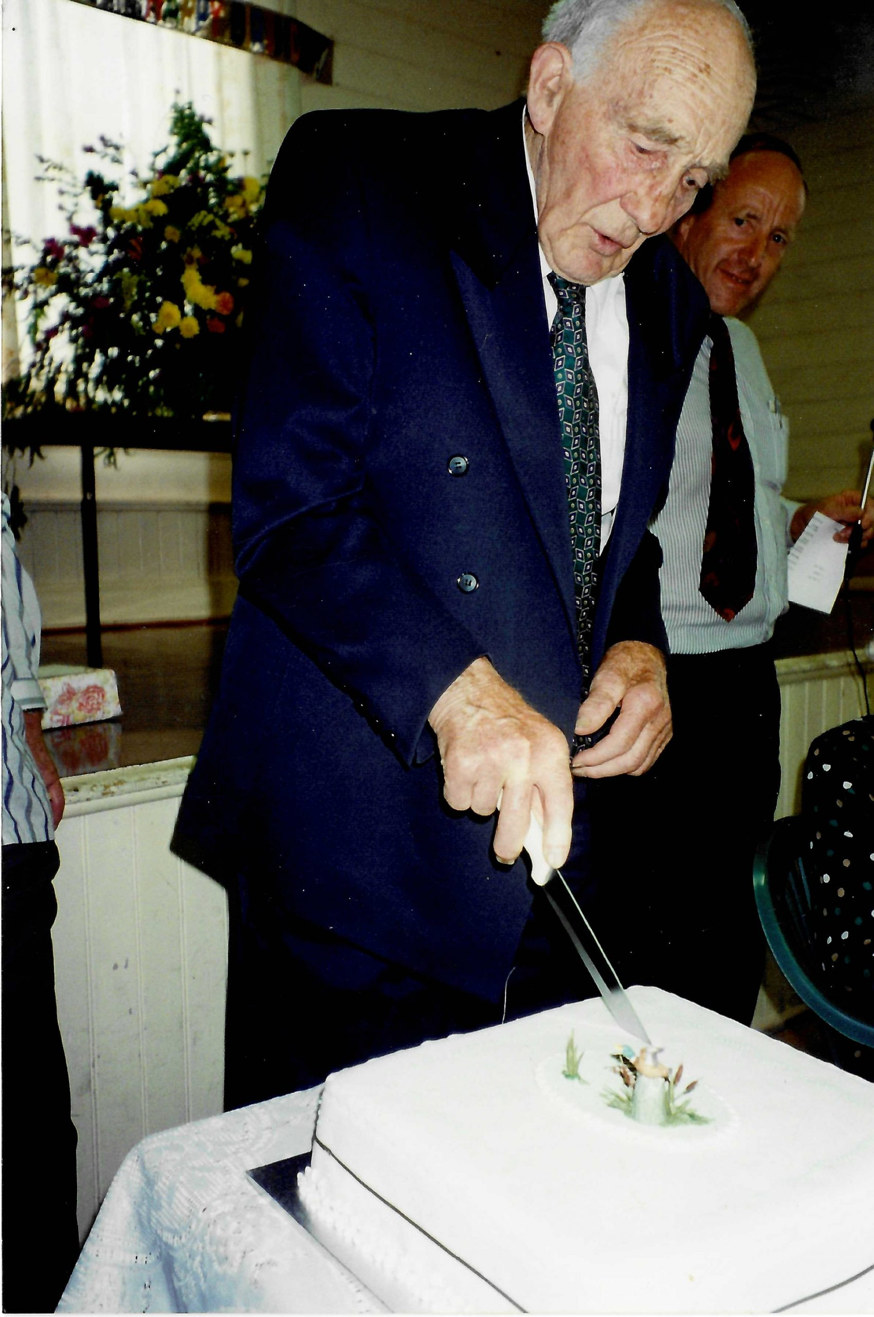 At his 90th Birthday celebration in 1995, held in the now demolished Doreen Hall, Jim Chester Draper received a watch and accompanying letter from the Country Fire Authority as thanks for his personal contribution to the service over the past fifty years