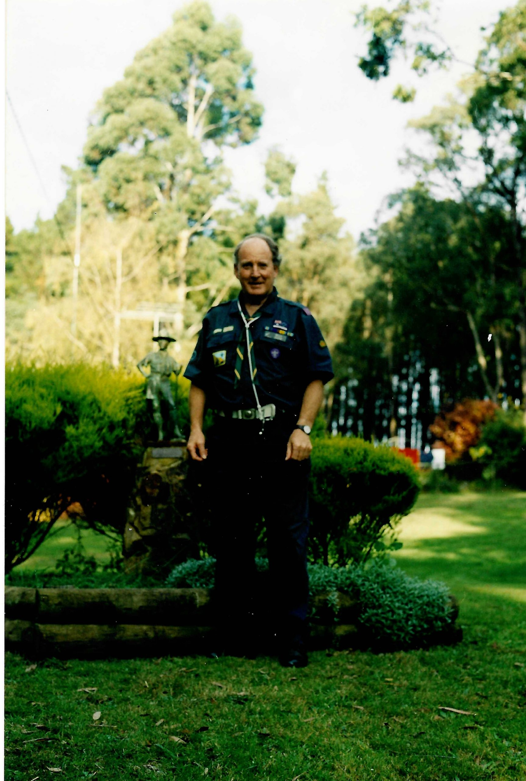 At Gilwell Park, Gembrook, a site he actively supported into old age, having been offered the Camp Chief of Gilwell Park role, a job he sadly had to decline due to failing health