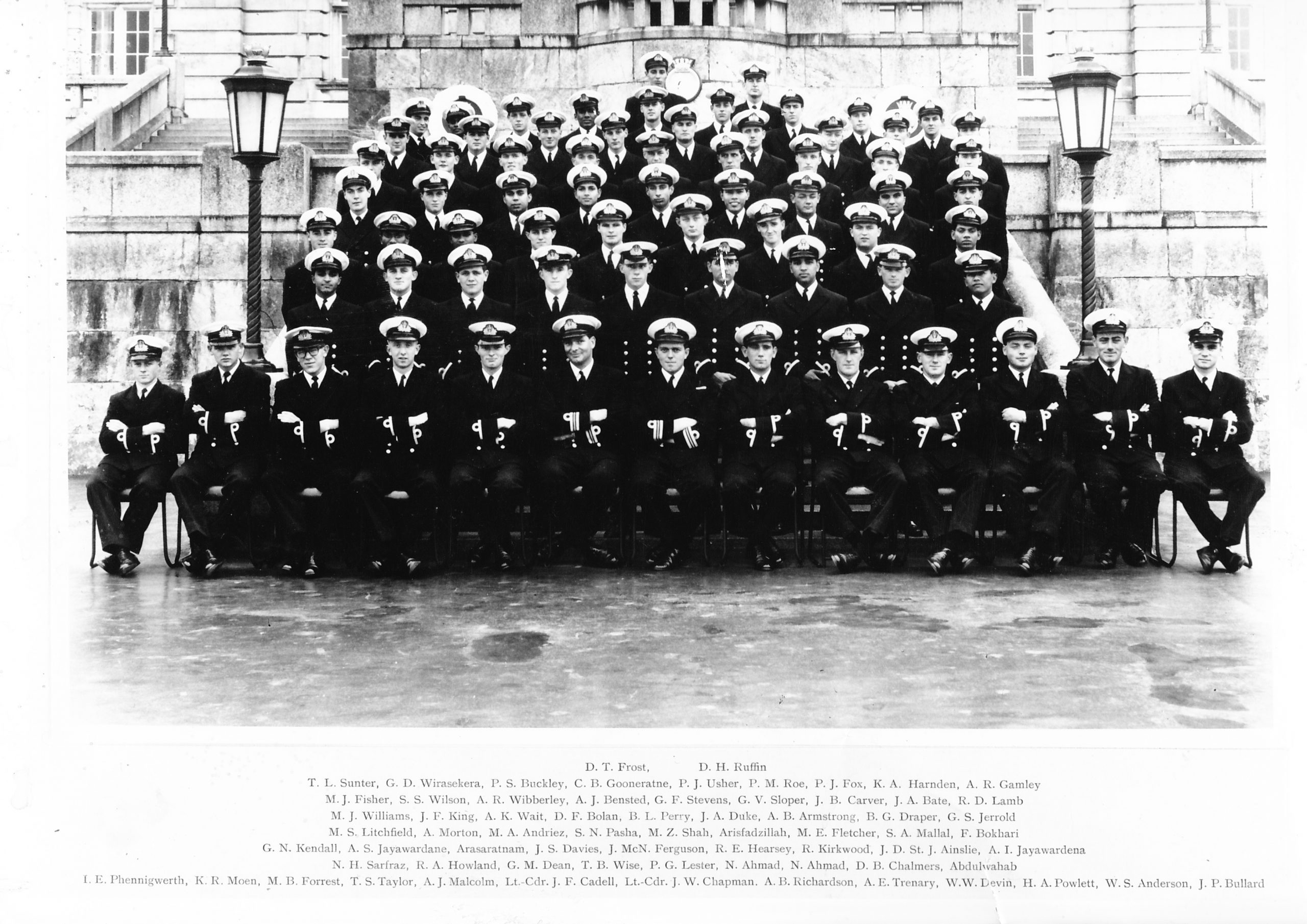 Passing out of the Britannia Royal Naval College Dartmouth, 1962.  Photo credit David Frost