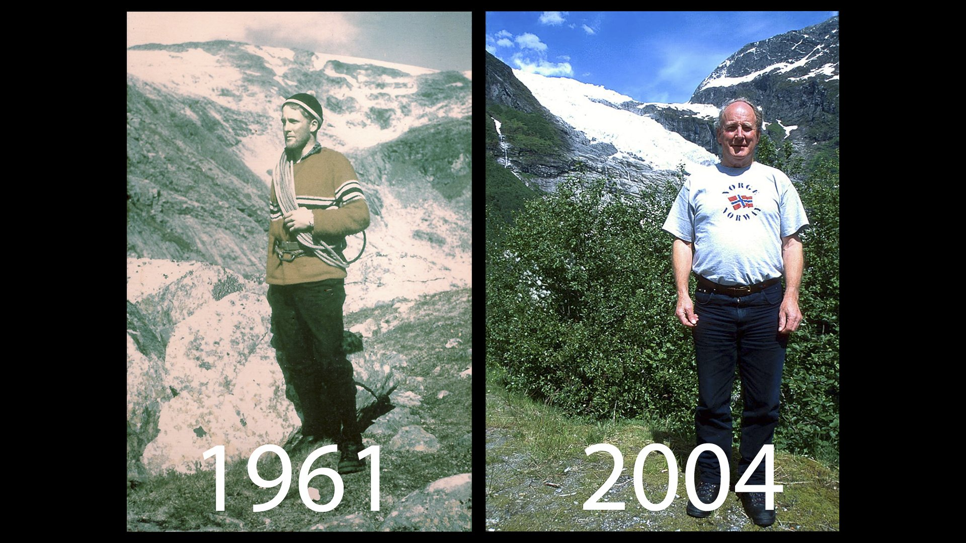 While in the Navy he was part of the Raleigh Society and participated in the Royal Naval Colleges 'Norped '61' Ski Expedition to Jostedalsbreen, Norway.  In 2004 he returned with his daughter and son-in-law to the Jostedal Glacier, and was delighted to be back after an absence of 43 years