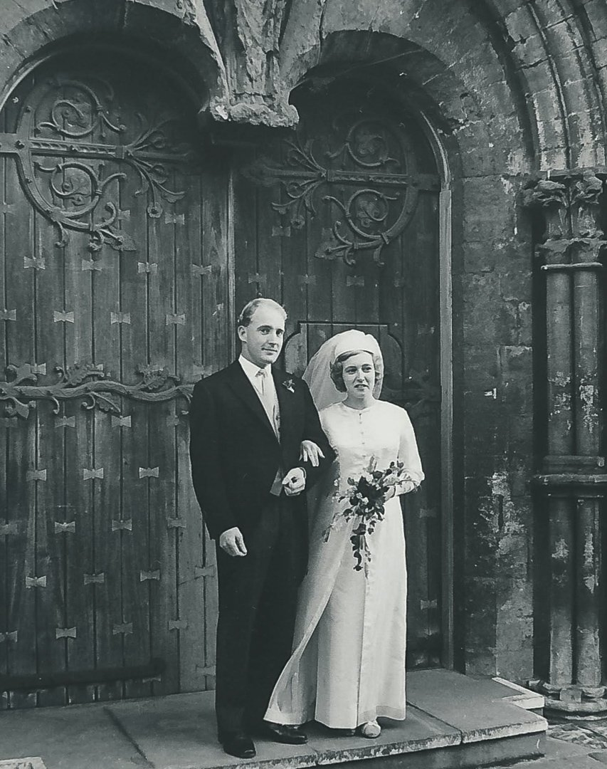 He married Mary Joyce Tyler in 1966 in The Welch Regiment Chapel, Llandaff Cathedral, Wales.  They met at The Hong Kong Club when Bruce was stationed in the region during Naval service