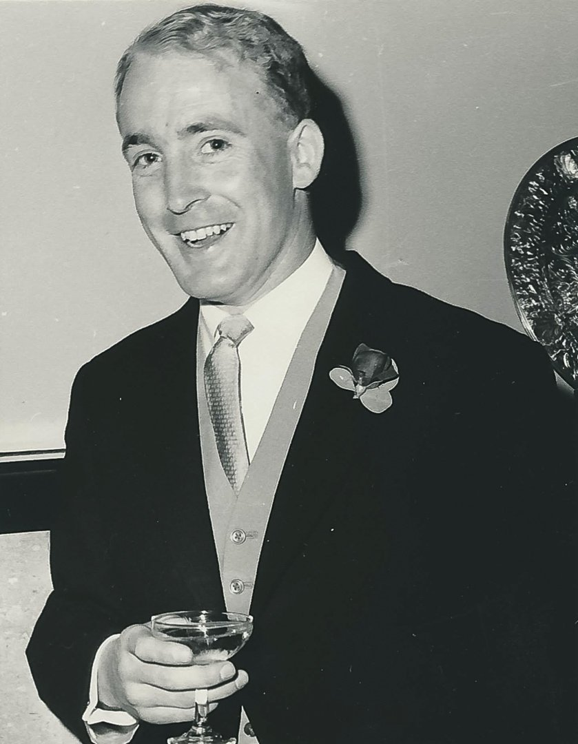 At his wedding in 1966 in The Welch Regiment Chapel, Llandaff Cathedral, Wales