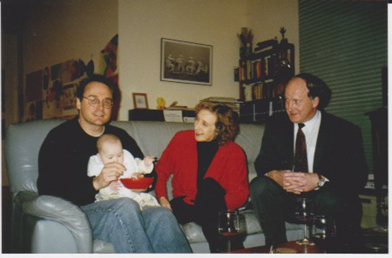 With his sister Elaine Lewis and his nephew and godson Richard Lewis c 1995