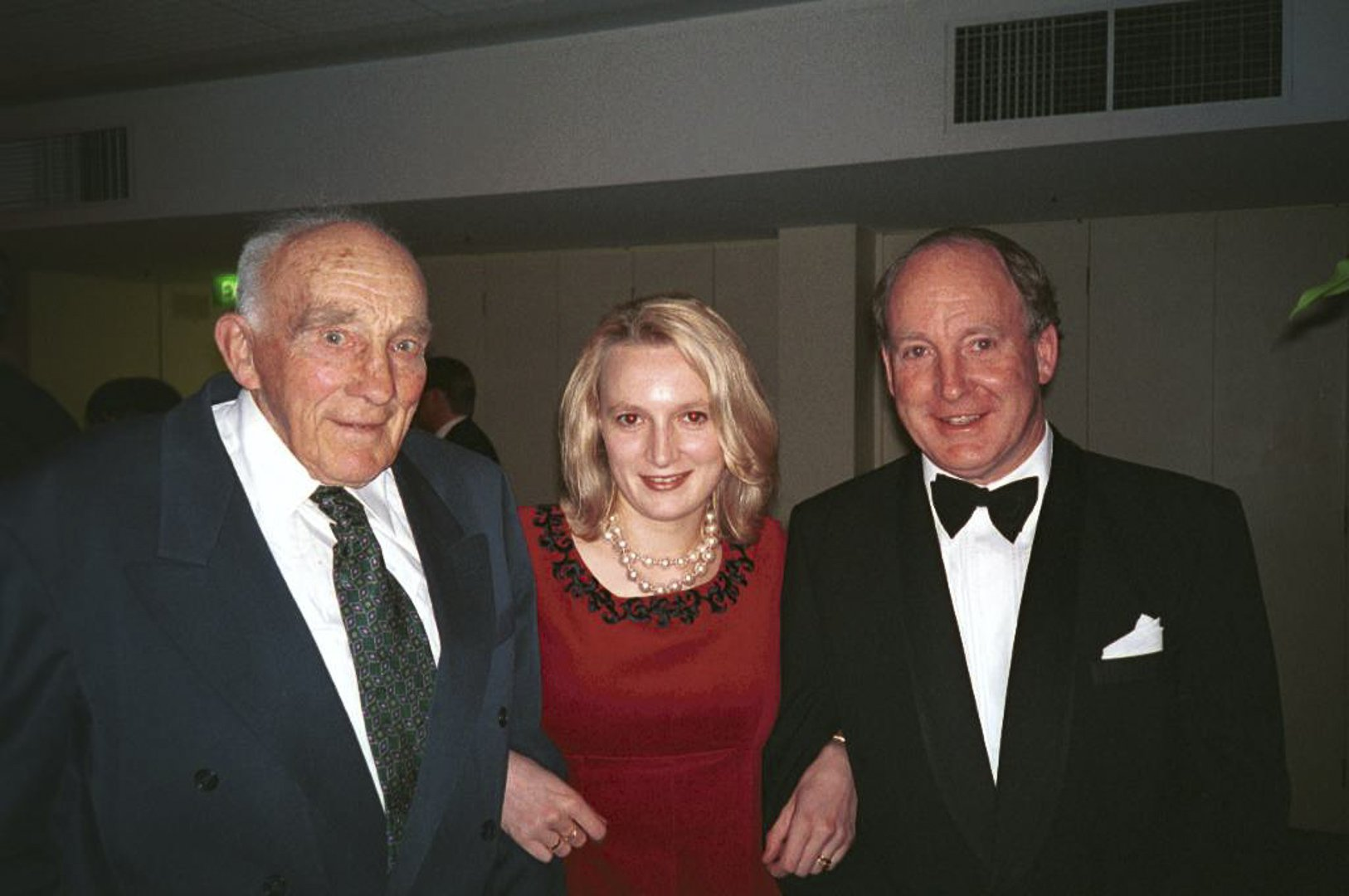 Pictured with his daughter Catherine and his father James Chester Draper in 1995